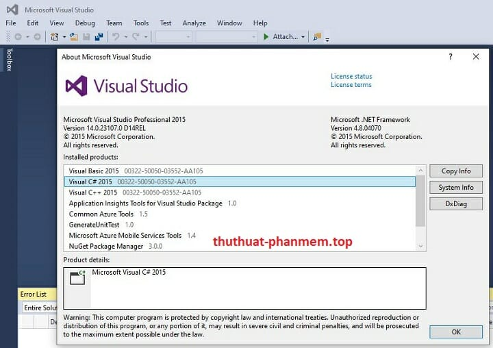 Visual Studio 2015 free download