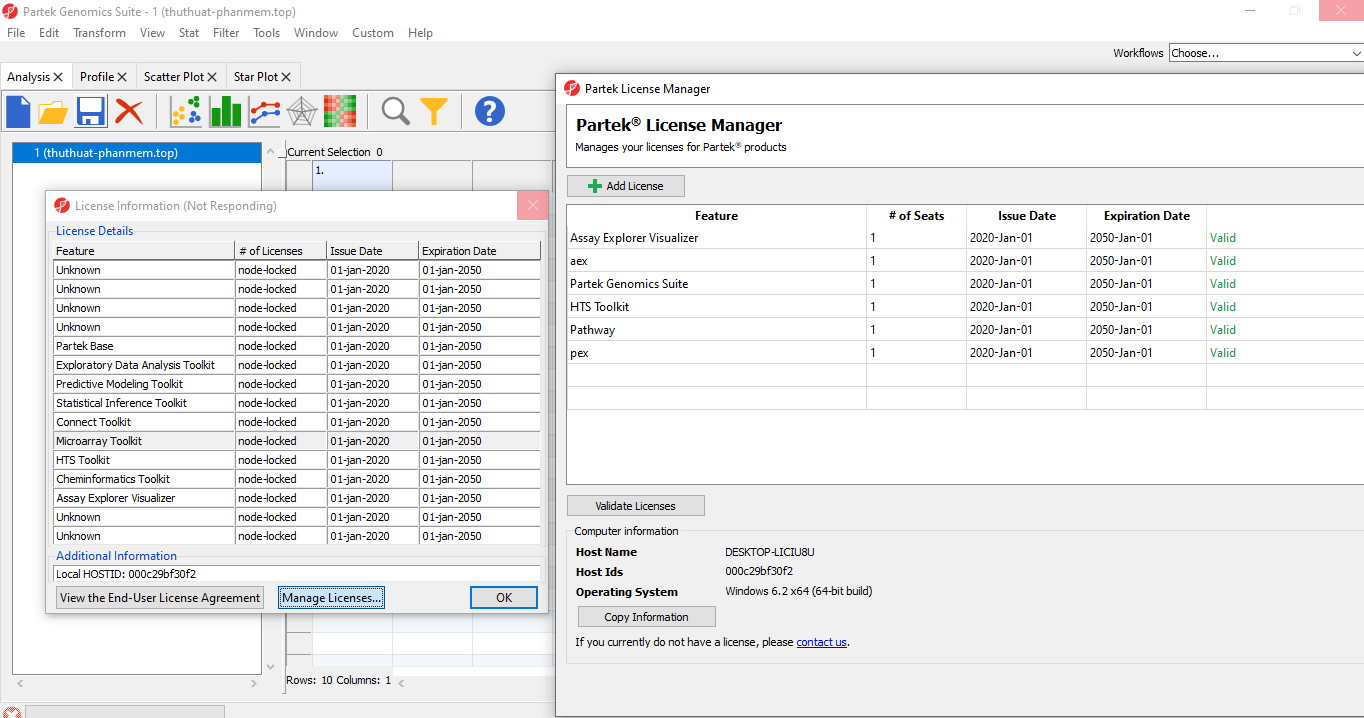 Partek Genomics Suite 7.19.1125